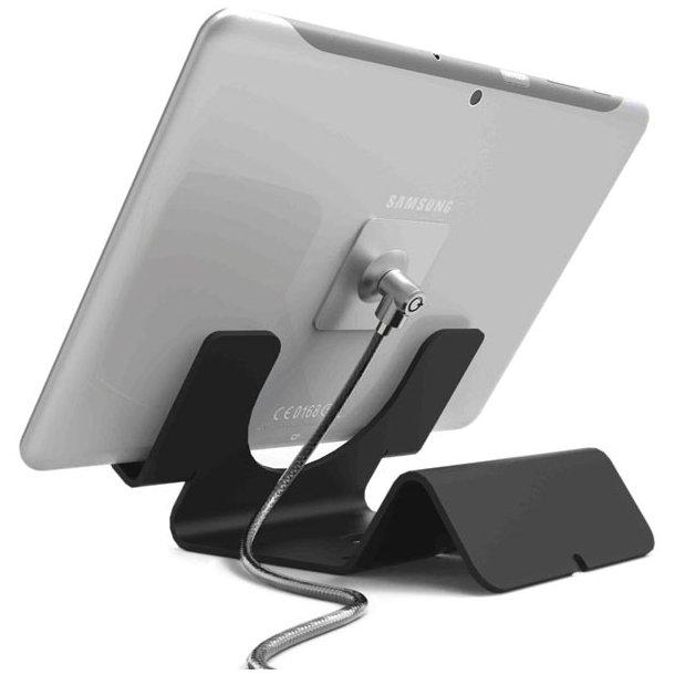 Universal tablet holder, bordstativ med wirelås