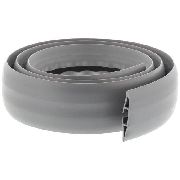 Kabelkanal i gummi med plads til 3 kabler,1,8m grå