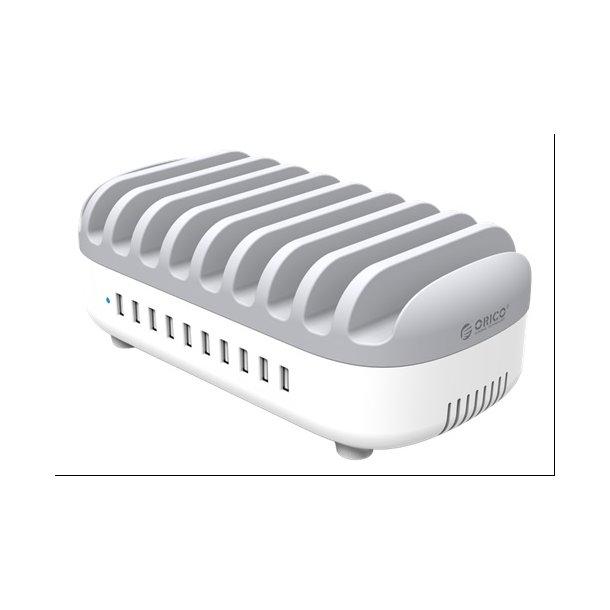 USB ladestation 10xUSB-A 5V 2.4A, total 120W