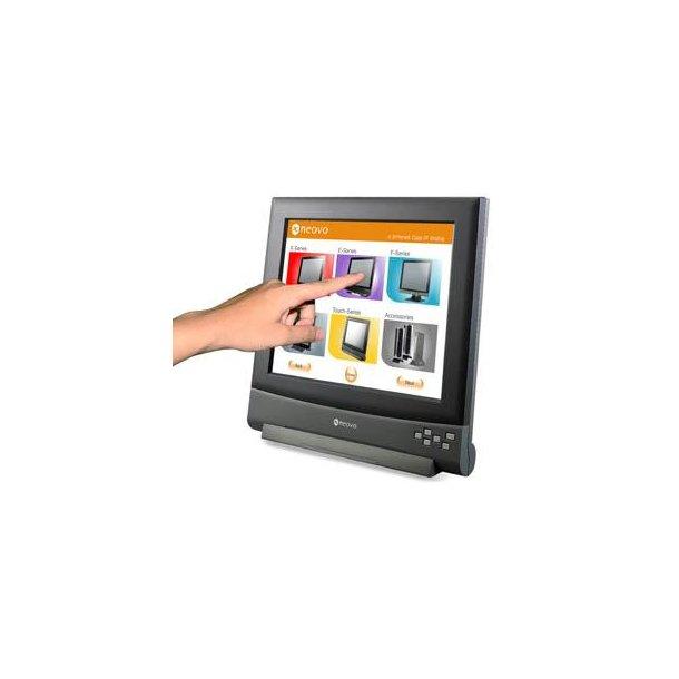 NEOVO 17 ? Touch skærm med glasfront sort/grå DVI